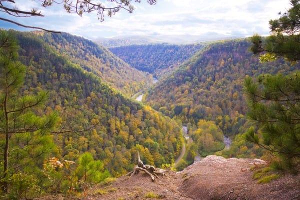 Barbour Rock, Pennsylvania Grand Canyon in Tioga County, PA