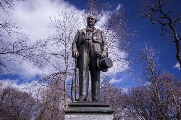 James Buchanan Statue in Lancaster, Pennsylvania