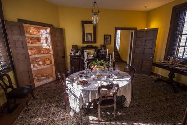 Dining room at Wheatland in Lancaster, PA