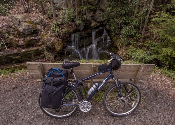 Waterfall on Great Allegheny Passage, Garrett, Pennsylvania