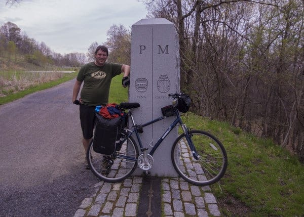 The Mason-Dixon Line on the Great Allegheny Passage.