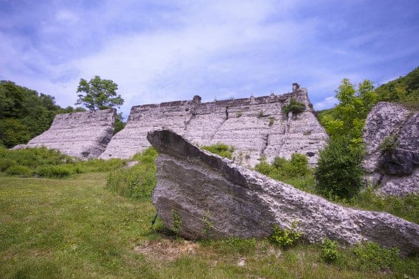 Ruins of Austin Dam in Potter County, Pennsylvania