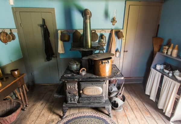 Inside the Laborer's Dwelling in Eckley Miners' Village in Luzerne County, Pennsylvania