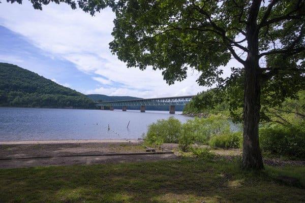 Kinzua Beach and the Allegheny Reservoir in Warren, Pennsylvania