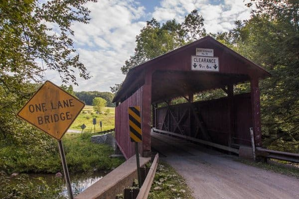 How to get to Sam Eckman Covered Bridge in Columbia County, Pennsylvania