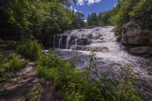 Visiting Shohola Falls along Route 6 in Pennsylvania.