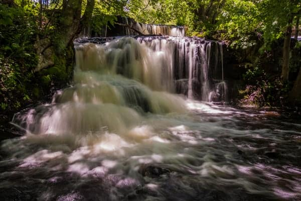 Small waterfall at Shohola Falls in Pike County, PA