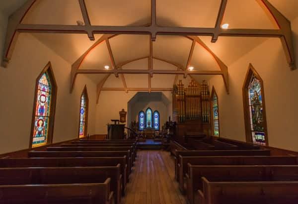 St. James Episcopal Church in Eckley MIners' Village near Hazelton, Pennsylvania