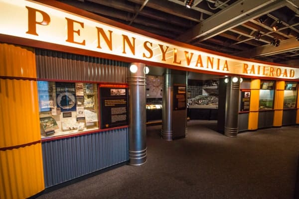 The Pennsylvania Railroad at the Railroaders Memorial Museum in Altoona, PA.
