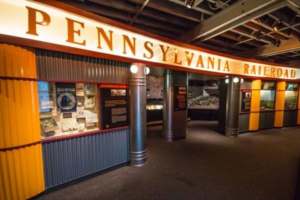 The Pennsylvania Railroad at the Railroaders Memorial Museum in Altoona, PA.