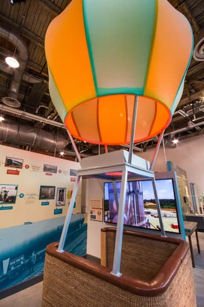 Hot air balloon at National Museum of Industrial History in Bethlehem, Pennsylvania