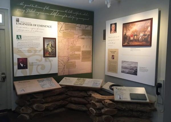 Inside the Thaddeus Kosciuszko National Memorial in Philadelphia, Pennsylvania