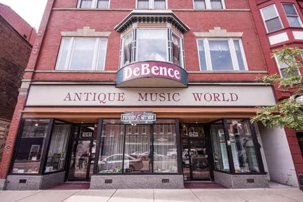 DeBence Antique Music World in Franklin, Pennsylvania.
