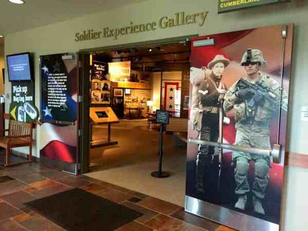 Soldier Experience Gallery at the Army Heritage Center in Carlisle, Pennsylvania.
