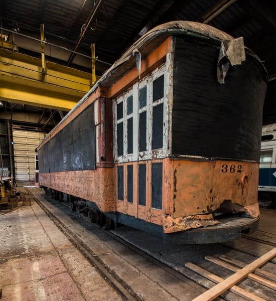 Johnstown streetcar at the Vintage Electric Streetcar Company