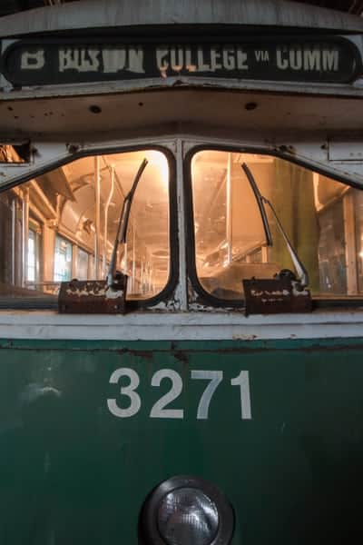 Boston Streetcar at the Vintage Electric Streetcar Company in Pennsylvania