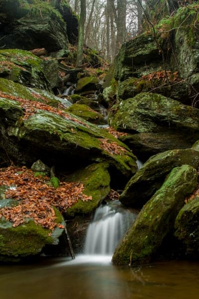 Lower Duncan Run Waterfall in York County, PA