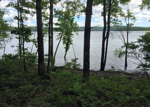 Hiking at Shuman Point Natural Area in the Poconos