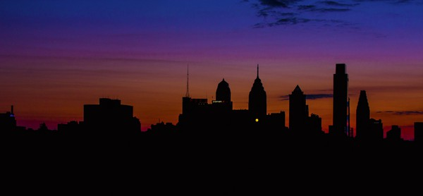 Top Pennsylvania Travel Photos of 2016 - Philadelphia skyline at sunset