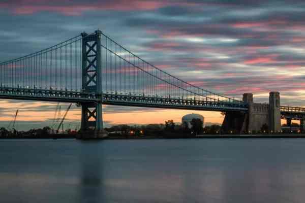 Top Pennsylvania Travel Photos of 2016 - Benjamin Franklin Bridge at Sunrise