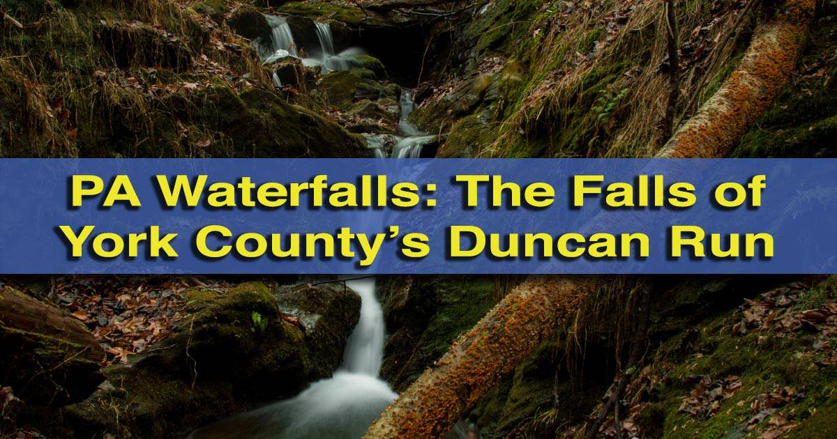 Duncan Run Waterfalls in York County, Pennsylvania