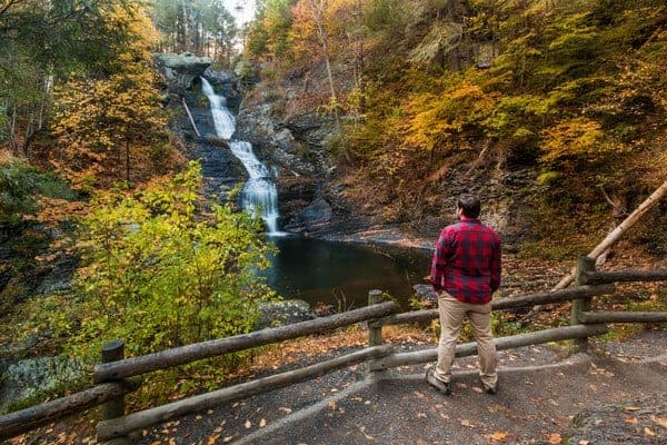 How to get to Raymondskill falls in the Pocono Mountains.