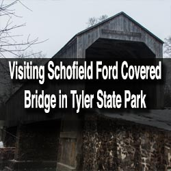Visiting Schofield Ford Covered Brdige
