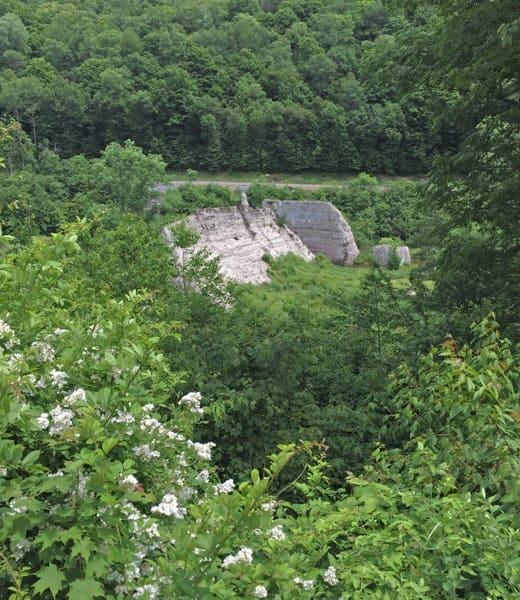 Overlook in Austin Dam Memorial Park near Austin, PA
