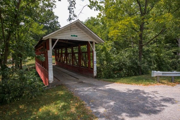 Fischtner Covered Bridge in Bedford County, Pennsylvania