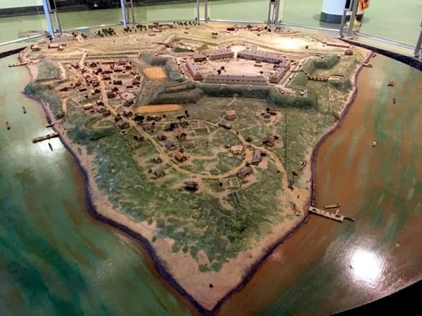 Fort Pitt model in the Fort Pitt Museum in Pittsburgh, PA
