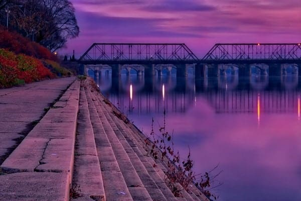 Outdoors in Harrisburg: Sunset in Riverfront Park