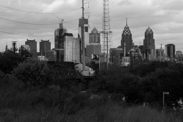 View of downtown Philadelphia from Bartram's Garden.