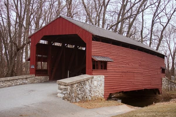 Shearer's Covered Bridge in Manheim, Pennsylvania