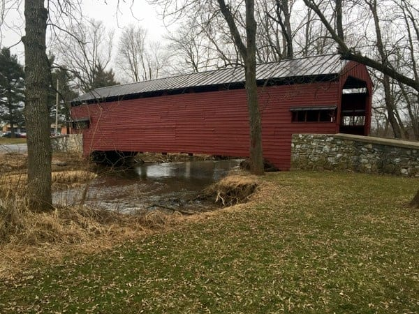 How to get to Shearer's Covered Bridge in Manheim, Pennsylvania