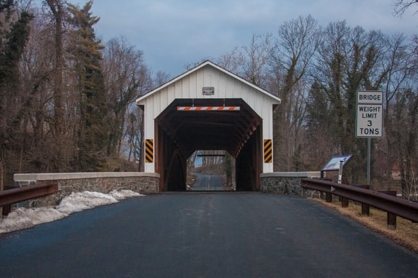 How to get to Siegrist's Mill Covered Bridge near Mount Joy, Pennsylvania