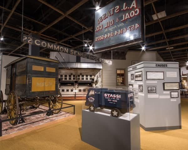 Displays at the Anthracite Heritage Museum in Scranton, PA