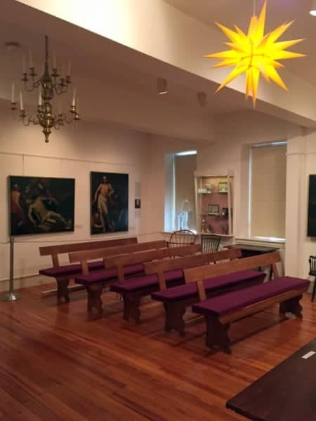 Moravian Saal at the Moravian Historical Society Museum in Nazareth, PA