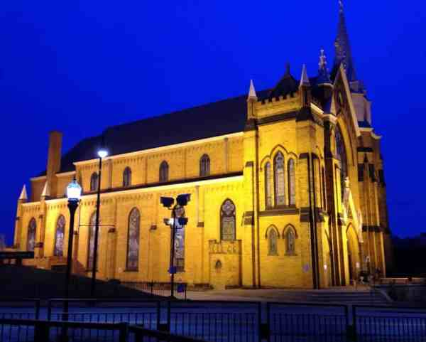 Beautiful churches in Pittsburgh: St. Mary of the Mount Church on Mount Washington