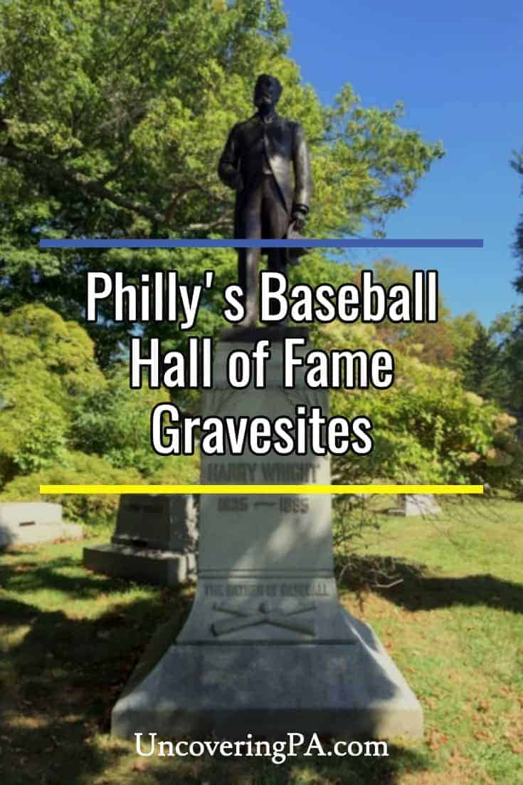 Visiting the graves of baseball Hall of Famers buried in and around southern Philadelphia, Pennsylvania