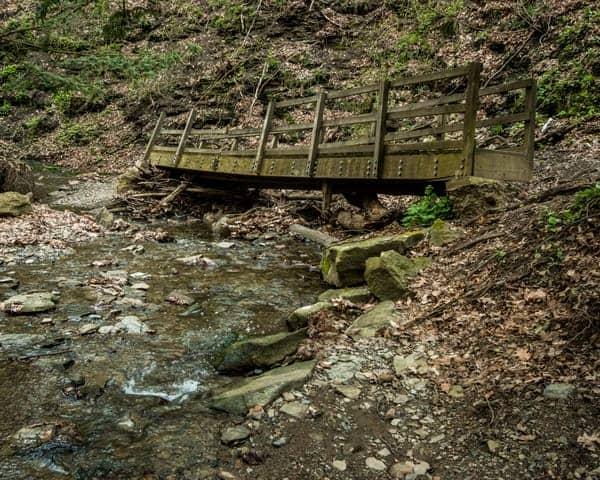 Damage at Fall Run Park in Shaler, Pennsylvania