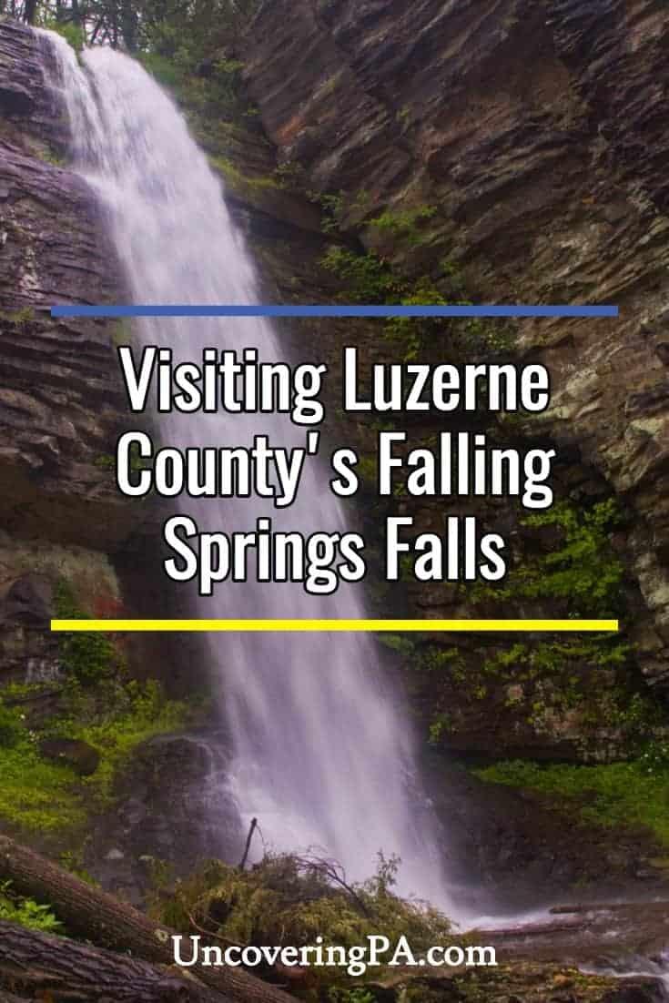 Pennsylvania Waterfalls: Falling Springs Falls in Luzerne County