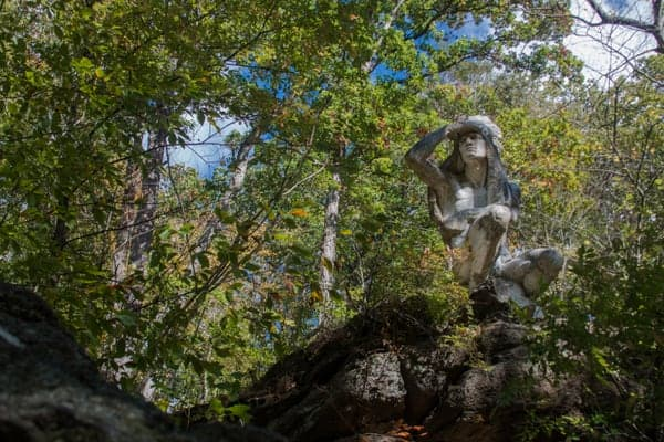 Places to visit in Wissahickon Valley Park: Tedyuscung Statue