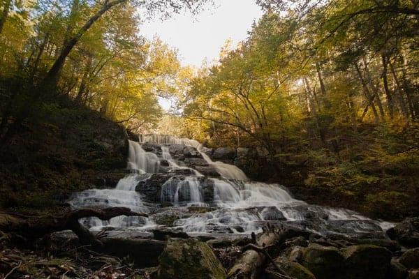 Waterfalls on Hornbecks Creek in Pennsylvania