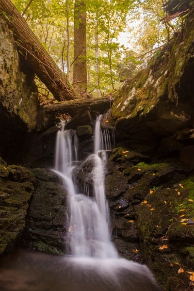 Waterfalls of the Hornbecks Trails in the Pocono Mountains.
