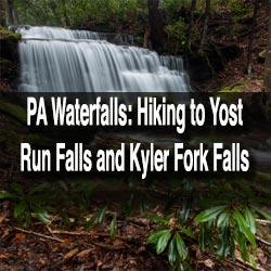 Hiking to Yost Run Falls