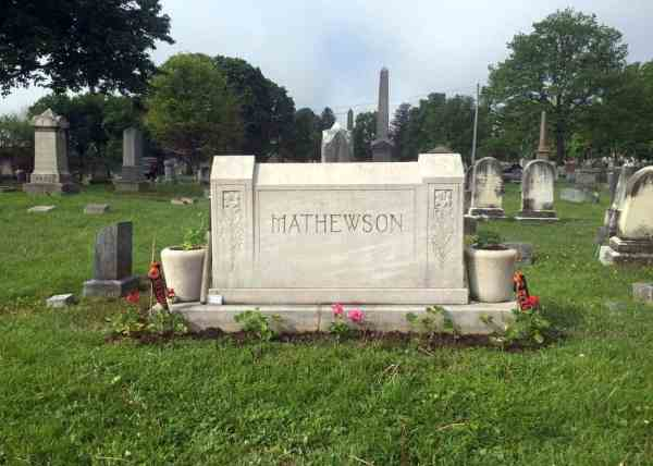 Christy Mathewson's grave in Lewisburg, Pennsylvania.