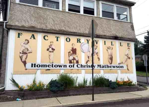 Christy Mathewson mural in Factoryville, Pennsylvania
