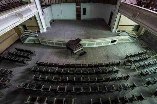 Inside the auditorium at J.W. Cooper School.