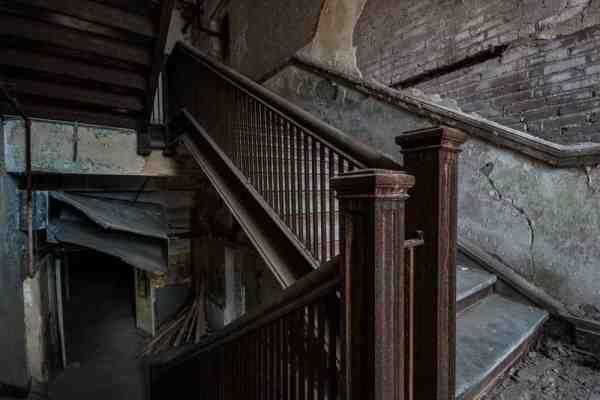 Stairwell inside J.W. Cooper School.