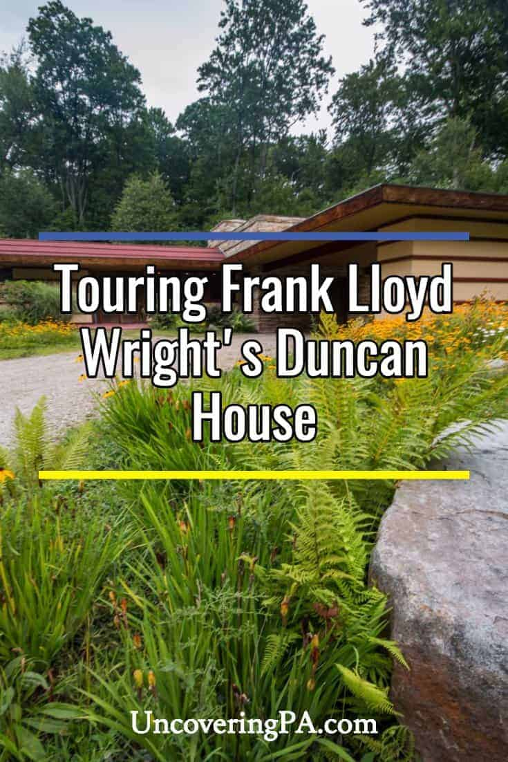 Touring Frank Lloyd Wright's Duncan House at Polymath Park in Westmoreland County, Pennsylvania